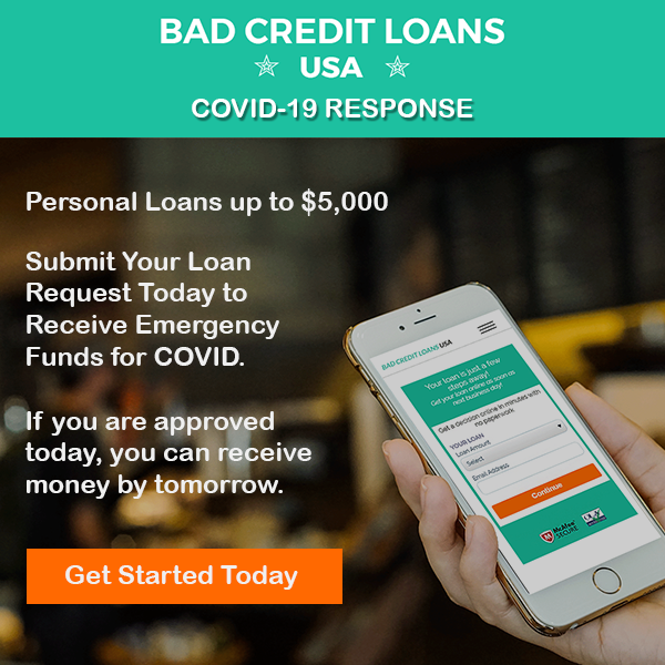 Covid Response Up to $5,000 | Bad Credit Loans USA